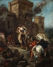 'The Abduction of Rebecca', 1858. Artist: Eugène Delacroix