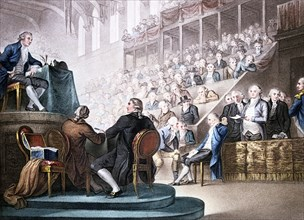 'Louis XVI at the Bar of the National Convention, December 26th 1792' (1796). Artist: Unknown