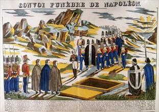 Napoleon's funeral cortege, St Helena, 1821 (1826). Artist: Anon