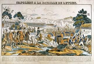 'Napoleon at the Battle of Lutzen', 2 May, 1813. Artist: Unknown
