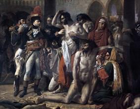 'Napoleon Bonaparte Visiting the Plague Stricken of Jaffa', 11th March 1799, 1804.  Artist: Antoine-Jean Gros