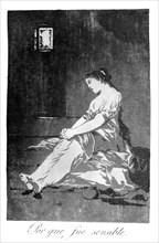 'Because she was susceptible', 1799. Artist: Francisco Goya