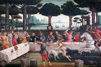 'The Banquet in the Pine Forest', 1482-1483. Artist: Sandro Botticelli