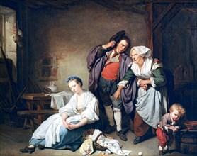 'Broken Eggs', 1756. Artist: Jean-Baptiste Greuze