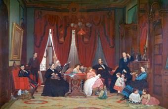 'The Hatch Family', 1870-1871. Artist: Eastman Johnson