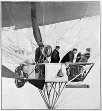 Maurice Berteaux, minister for the war in the Lebaudy airship, 3rd November 1905. Artist: Unknown