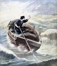 'Lost at Sea', 1891. Artist: Henri Meyer
