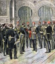 Return of the Grand Cordon of the Legion of Honour to the New Khedive of Egypt, 1892. Artist: Henri Meyer