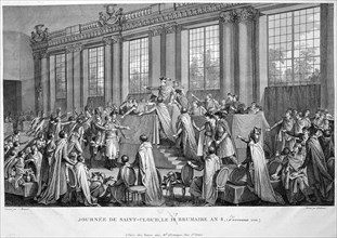 'The coup d'état of the 18th Brumaire (9th November), 1799', 19th century. Artist: Unknown