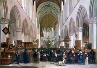'The Interior of the Grote Kerk, Haarlem', 1673. Artist: Gerrit Berckheyde
