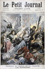 Fire at the Bazar de la Charite, Paris, 4th May 1897. Artist: F Meaulle