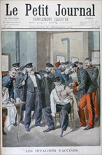 Vaccinations of the old soldiers, Paris, 1900. Artist: Eugene Damblans