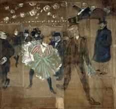 La Goulue and Valentin le desosse, 1895. Artist: Henri de Toulouse-Lautrec