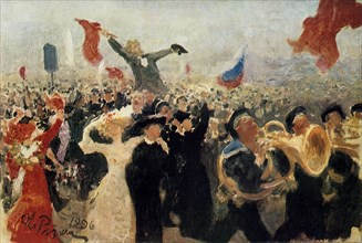'The Demonstration of 17th October, 1905', c1900-1930.  Artist: Il'ya Repin