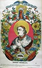 St Charles of Borromeo, 16th century Italian priest, 19th century. Artist: Anon