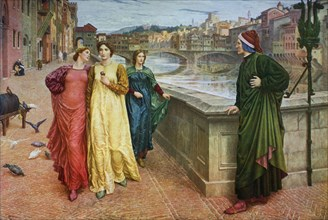 'Dante and Beatrice', 1883, (1912).Artist: Henry Holiday