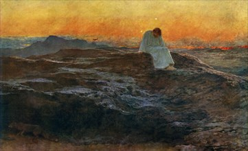 'Christ in the Wilderness', 1898, (1912).Artist: Briton Riviere