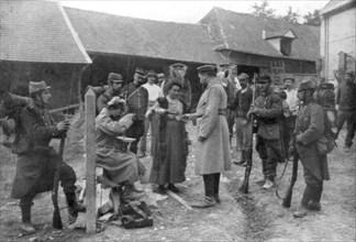 Captured German prisoners, France, August 1914. Artist: Unknown