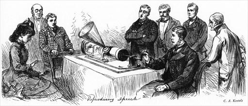 'Reproducing Speech', 1878.Artist: C A Keetels