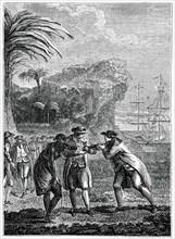 'Sale of a Negro Slave', (1885).Artist: Eisen