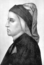 Dante Alighieri, Italian Florentine poet, (1903). Artist: Unknown