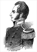 Robert John Le Mesurier MacClure, pioneer arctic explorer, 1853. Artist: Unknown