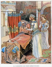 ''The Parisian Woman during the time of the Merovingians', c5th-8th century AD, c1870-1950.Artist: Ferdinand Sigismund Bac