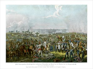 The Battle of the Nations at Leipzig, Germany, 18 October 1813 (1900). Artist: Unknown