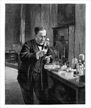 Louis Pasteur, 19th century French microbiologist and chemist, (1900). Artist: Unknown