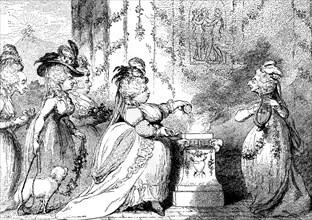 'La Belle Assemblee', 1787. Artist: Unknown