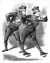 The 'Pas De Deux!', 1878.Artist: Swain