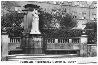 Florence Nightingale memorial, Derby, 1937. Artist: Unknown