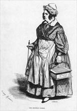 The monthly nurse, 19th century. Artist: Lavieille