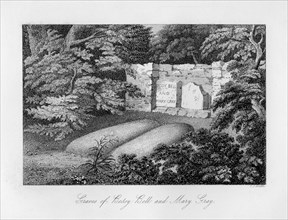 Grave of Bessy Bell and Mary Gray, near Perth, 1840.Artist: C J Smith