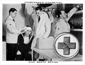 Sick Berth Rating, 1937.Artist: WA & AC Churchman