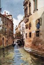 'Rio del Olio', Venice, Italy, 1907 (1908-1909).Artist: William Alister Macdonald