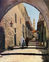 A street in Jerusalem, Israel, 1926. Artist: Unknown