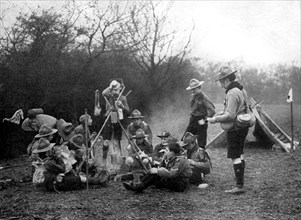 Boy scouts camping, 1926