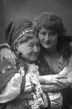 Mary Anderson (1859-1940), American stage actress, and Mrs Stirling, 1890.Artist: W&D Downey