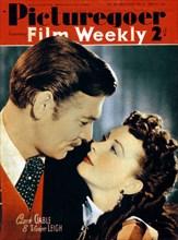 Clark Gable (1901-1960) and Vivien Leigh (1913-1967), actors, 1940. Artist: Unknown