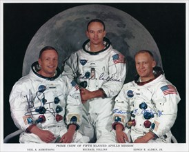 The crew of Apollo 11, 1969.Artist: NASA