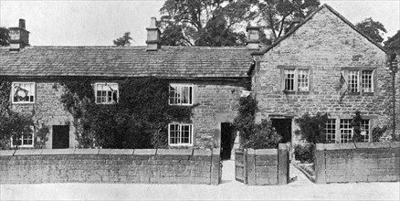 Houses at Eyam, where the Great Plague broke out, Derbyshire, 1924-1926. Artist: York & Son