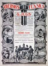 Advert for Thermos flasks and jugs, 1910. Artist: Unknown