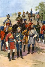 The King's 'Own' Regiments of the Indian Army.Artist: Frederic de Haenen