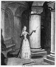 Queen Jane's first night in the Tower, 1553 (1840). Artist: George Cruikshank