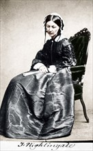 Florence Nightingale, English nurse and hospital reformer, 1854. Artist: Unknown