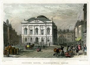 Sessions House, Clerkenwell Green, Islington, London, 1831.Artist: S Lacey