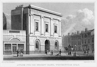 School for the Indigent Blind, Westminster Road, London, 1829.Artist: R Acon