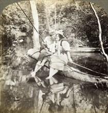 'A Fishing Smack'.Artist: Underwood & Underwood