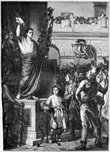 Augustus presents the constitution, Lyon, France, 10 BC (1882-1884). Artist: Unknown